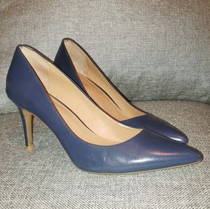 Calvin Klein Pumps Gayle Navy Blue Size 9 Leather